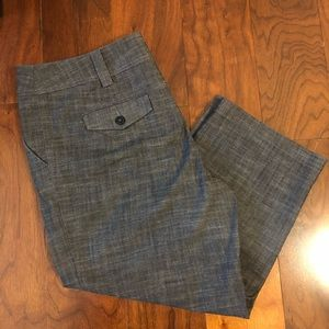 Dark Gray Capris • Size 10 • Great for Work!